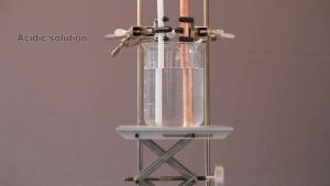 PTFE vs. Copper pipe - before acid bath soak